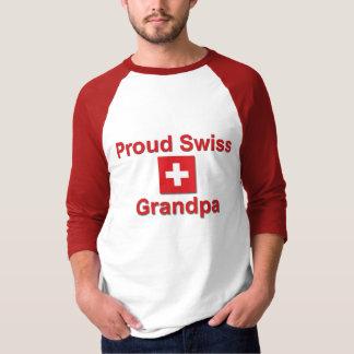 Abuelo suizo orgulloso playera