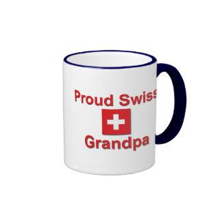 Abuelo suizo orgulloso taza a dos colores