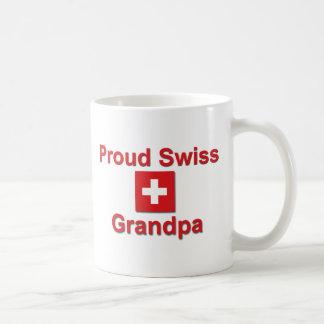 Abuelo suizo orgulloso taza básica blanca