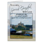 Abuelo, tarjeta del día de los abuelos - castillo