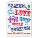 ¡Abuelo te amo más que las galletas! Tarjeton