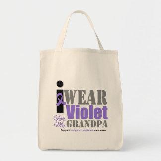 Abuelo violeta de la cinta - el linfoma de Hodgkin Bolsa De Mano