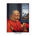 Abuelo y nieto de Domenico Ghirlandaio Postal