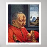 Abuelo y nieto de Domenico Ghirlandaio Poster