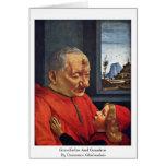 Abuelo y nieto de Domenico Ghirlandaio Tarjetón