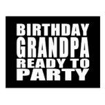 Abuelos: Abuelo del cumpleaños listo para ir de fi