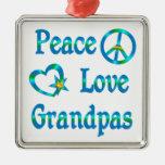 Abuelos del amor de la paz adornos
