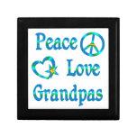 Abuelos del amor de la paz caja de recuerdo