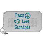 Abuelos del amor de la paz portátil altavoz
