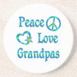 Abuelos del amor de la paz posavasos cerveza