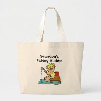 Abuelos del oso que pescan al compinche bolsa tela grande