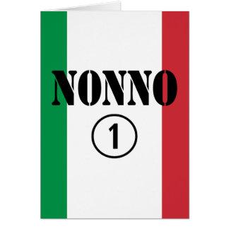 Abuelos italianos: Uno de Nonno Numero Tarjeta De Felicitación