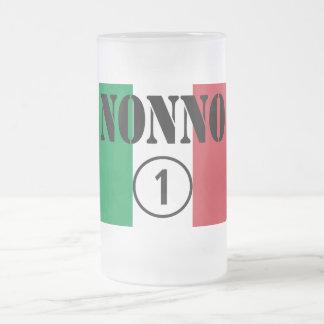 Abuelos italianos: Uno de Nonno Numero Taza De Cristal
