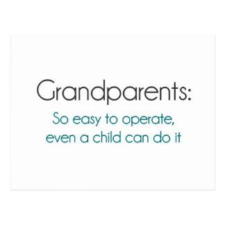 Abuelos tan fáciles actuar postales