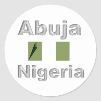Abuja Classic Round Sticker
