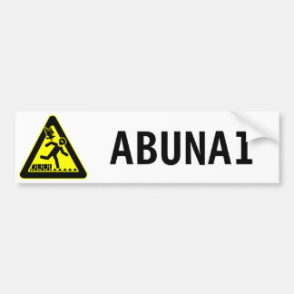 Abunai Bumper Sticker