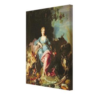 Abundance 1719 stretched canvas print