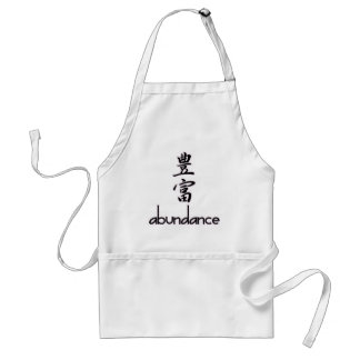 Abundance and Riches, in Kanji Adult Apron