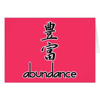 Abundance and Riches, in Kanji Greeting Card