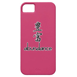 Abundance and Riches, in Kanji iPhone 5 Cover