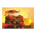 Abundance - Berries Stretched Canvas Prints