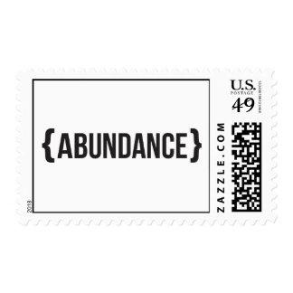Abundance - Bracketed - Black and White Stamp