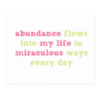Abundance flows Affirmation Postcard