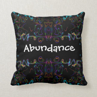 Abundance: Modern Art Throw Pillow