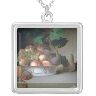 Abundance of Fruit Silver Plated Necklace