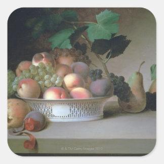 Abundance of Fruit Square Sticker