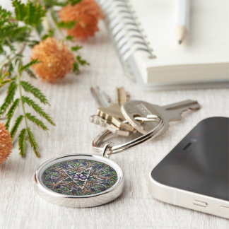 Abundance Pentacle Keychain