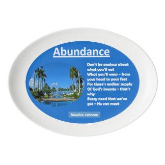Abundance Porcelain Serving Platter
