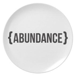 Abundancia - acorchetada - blanco y negro platos