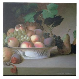 Abundancia de fruta azulejo cuadrado grande