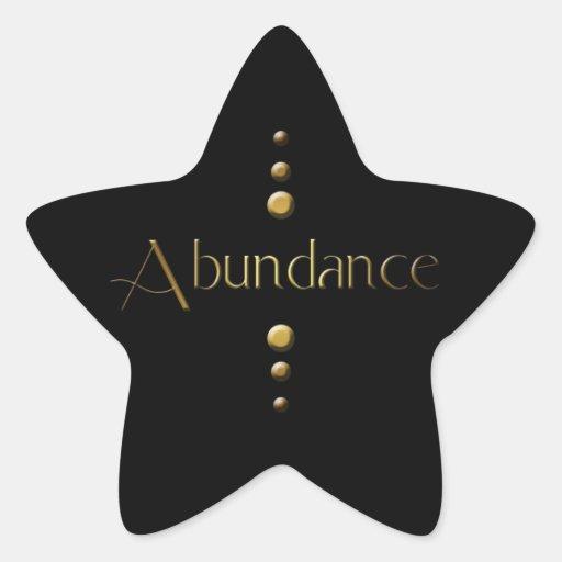 Abundancia del bloque del oro de 3 puntos y fondo pegatinas forma de estrellaes