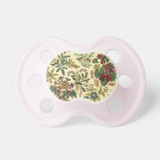 Abundancia floral pasada de moda chupetes para bebes