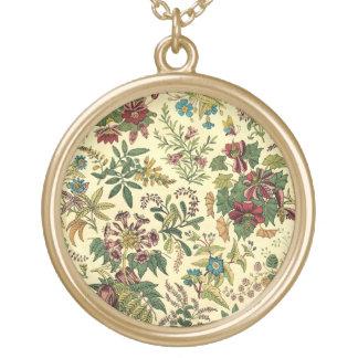Abundancia floral pasada de moda colgante redondo