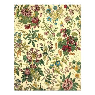 Abundancia floral pasada de moda flyer personalizado
