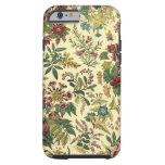 Abundancia floral pasada de moda funda de iPhone 6 tough