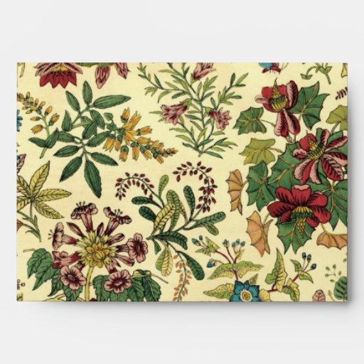 Abundancia floral pasada de moda sobre