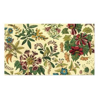 Abundancia floral pasada de moda tarjeta de visita