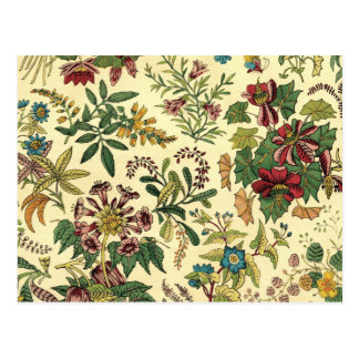 Abundancia floral pasada de moda tarjetas postales