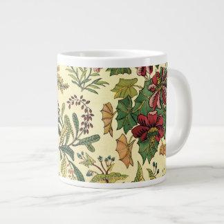 Abundancia floral pasada de moda tazas jumbo
