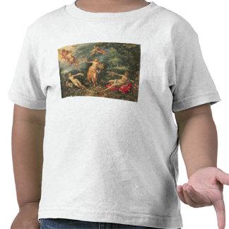 Abundancia y los cuatro elementos c 1606 aceite camiseta