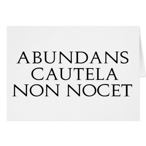 Abundans Cautela Tarjeta De Felicitación