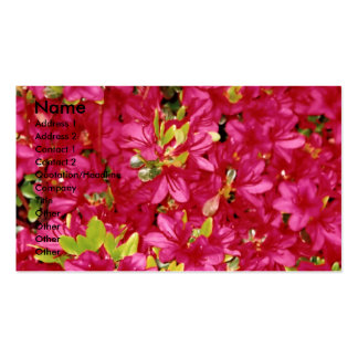 Abundant Azaleas Business/Profile  Card Business Card Templates