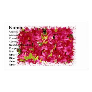 Abundant Azaleas II Grunge Business/Profile Card Business Card