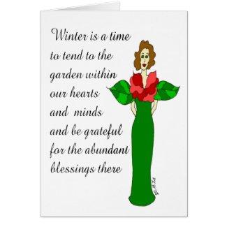 "Abundant Blessings ""Winter Rose"" Holiday Card"