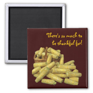 Abundant Corn Thanksgiving Refrigerator Magnet