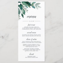 Abundant Foliage Menu Card